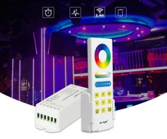 RGB+CCT Smart LED radio controller, with remote control (2.4GHz)