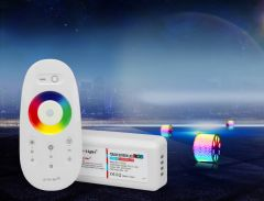 RGB strips radio controller, with remote control, touchscreen (2.4GHz)